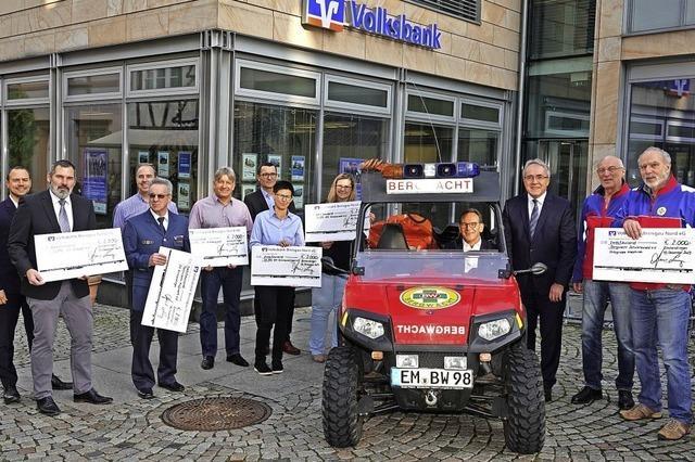14 000 Euro Hilfe für Helfer