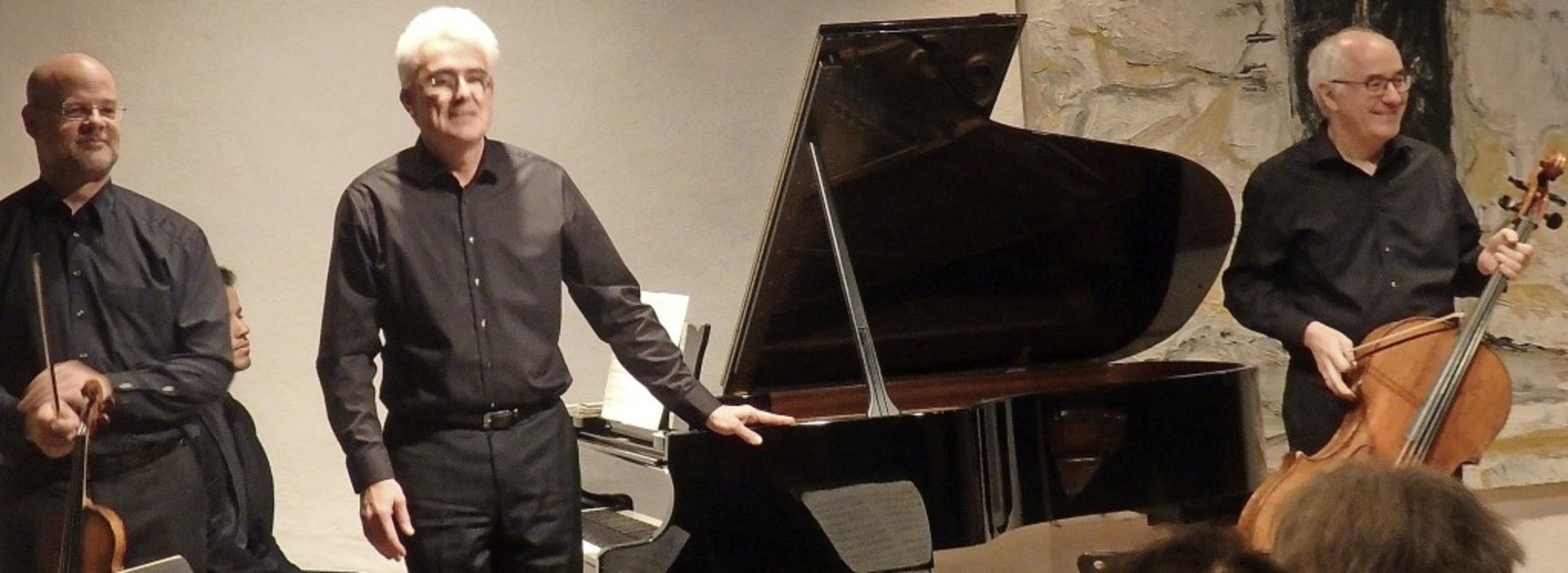 Das Freundschaftstrio Sebastian Schmid...rer beim Kammerkonzert im Stubenhaus.   | Foto: Bianca Flier