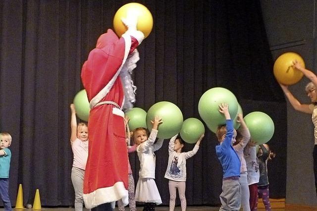 Da turnte sogar der Nikolaus fleißig mit