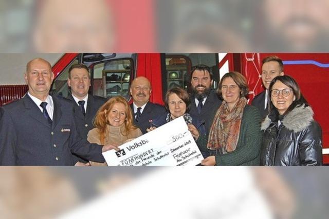 Spende der Feuerwehr
