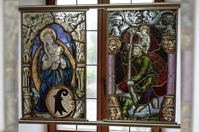 Glasmalkunst aus Basel