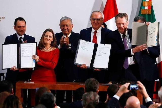 Neues Freihandelsabkommen für Nordamerika kommt