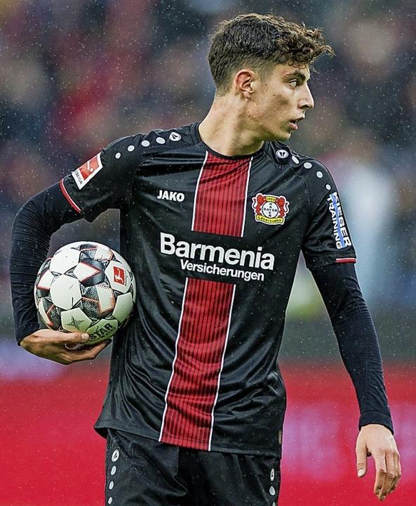 Kai Havertz von Bayer Leverkusen    Foto: Rolf Vennenbernd