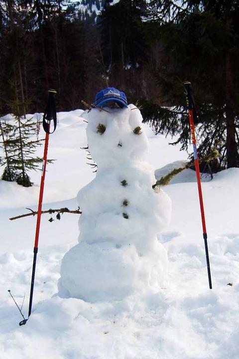 Kunst im Schnee?  | Foto: Oase Alpin Center