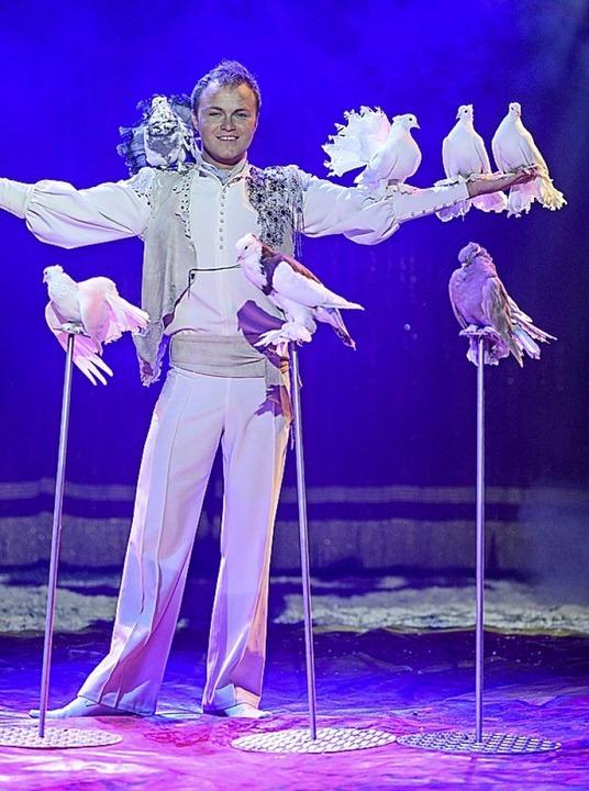Dressur  mit Tauben  | Foto: Weihnachtscircus