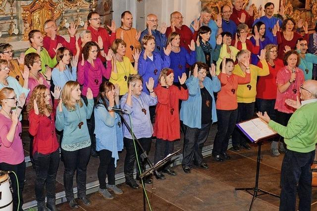 Benefizkonzert mit Afrika-Chor in der Kirche