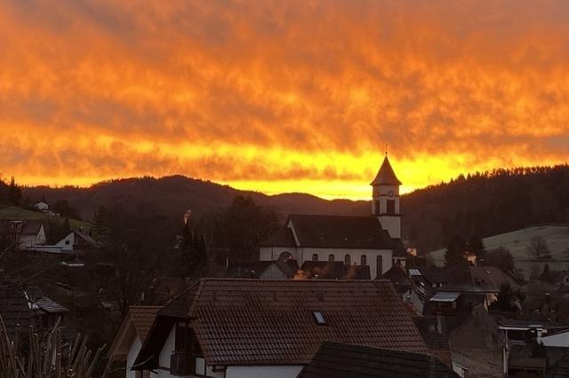 Sonnenaufgang über Münchweier