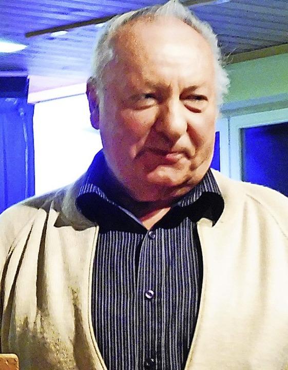Heinrich Imm hält dem Musikverein seit  40 Jahren die Treue.  | Foto: Dieter Vollmer