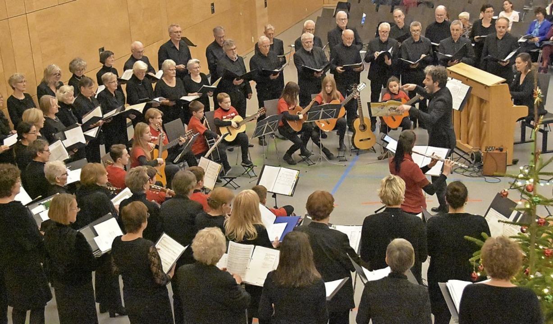 Der Kammerchor Cantemus und Musikschül...onzert in der Gundelfinger Festhalle.   | Foto: Andrea Steinhart