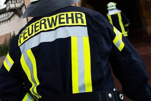 Zwei Leichtverletzte bei Brand in Hausflur in Freiburg-Landwasser