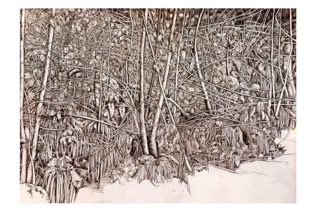 """Bild """"Der Wald"""" von Christina Löwy    Foto: Privat"""