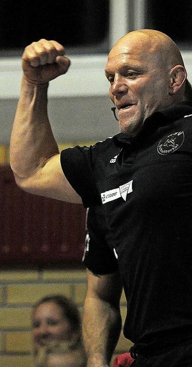 RSV-Trainer Mario Lauer hat oft genug Grund zum Jubeln.  | Foto: Pressebüro Schaller