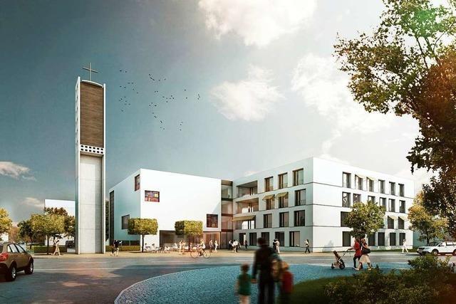 Neubebauung des Thomaskirchenareals in Zähringen bis Ende 2022