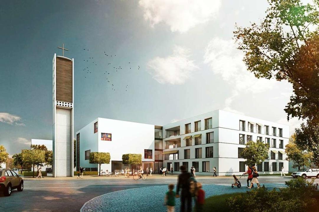 Die 2014 erarbeiteten Pläne  sind nach...t zusätzlich Platz für ein Pflegeheim.  | Foto: Sacker Architekten