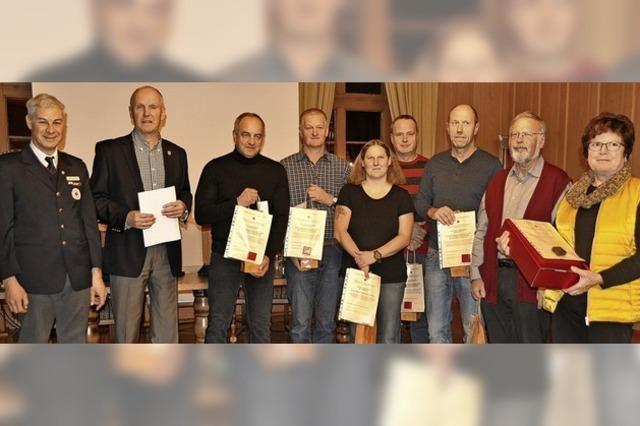 In Münstertal wurden Blutspender geehrt