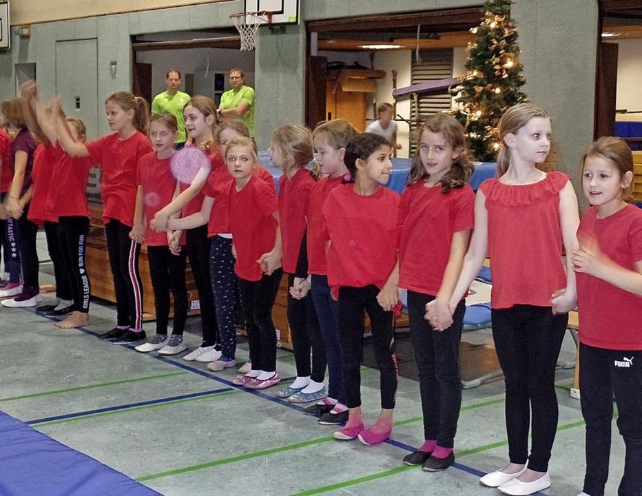 Disziplin und Geschicklichkeit gehören...Säckingen beim Nikolausturnen zeigten.    Foto: Harald Schwarz
