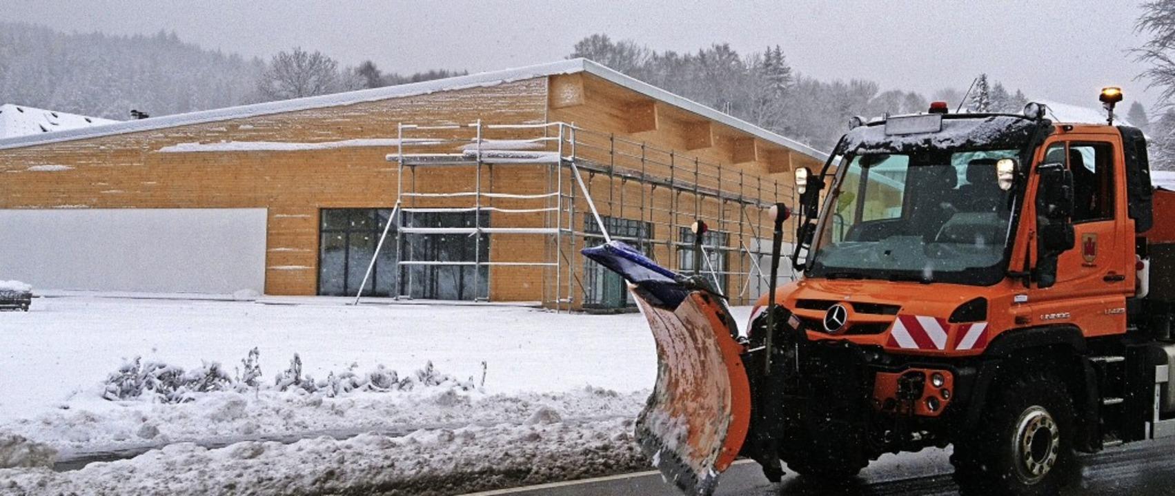 Winterruhe herrscht auf der Baustelle des geplanten Rossmann-Marktes in Häusern.  | Foto: Sebastian Barthmes