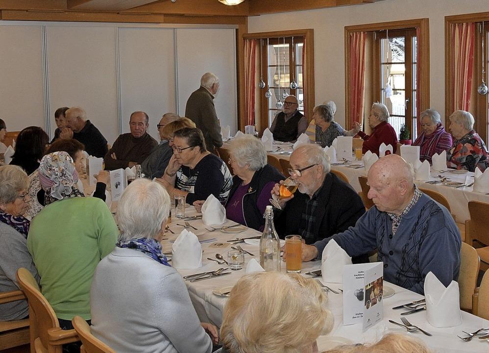 Gut besucht war der fünfte Mittagstisc...öchenschwand am vergangenen Dienstag.   | Foto: Stefan Pichler