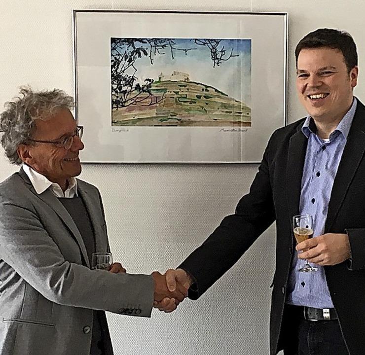 Joachim Baar (links), Leiter der Jugen...ern die Zusammenarbeit vertraglich ab.  | Foto: Privat