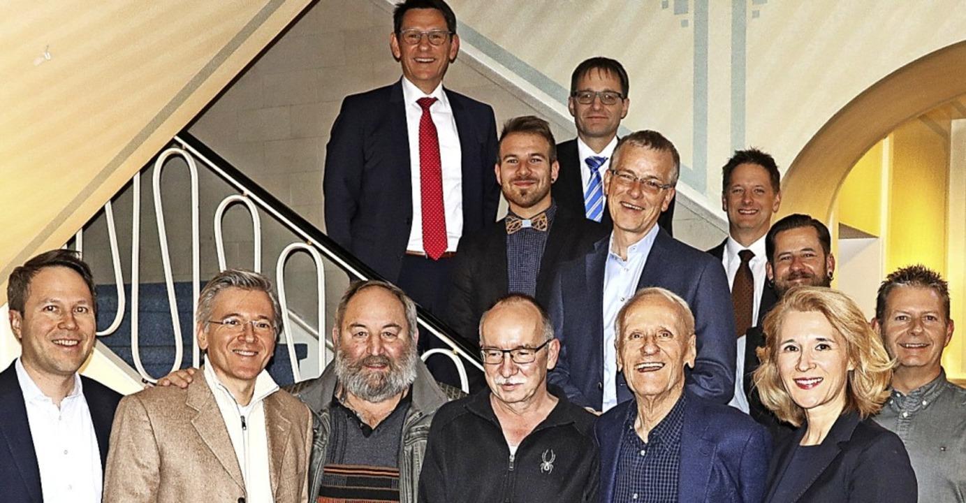 <BZ-Keyword>Die Arbeitsjubilare</BZ-Ke...ann Oliver Laguna und  Thomas Köpfer.   | Foto: Uli Merkle