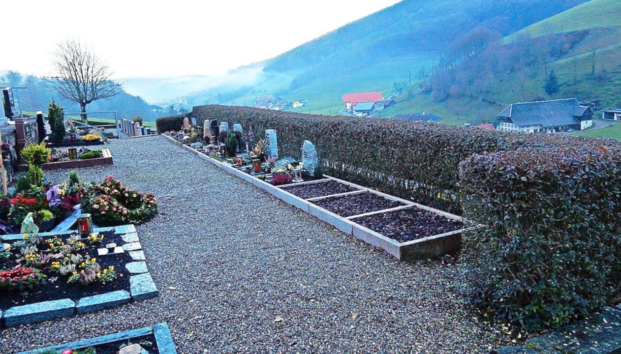 In Verlängerung der Urnengrabreihe sol...die erste Urnenwand errichtet werden.   | Foto: Kurt Meier
