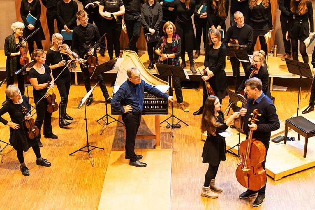 Gespräch mit den Akteuren: Jugendkonzert-Projekt beim Freiburger Barockorchester  | Foto: Annelies van der Vegt