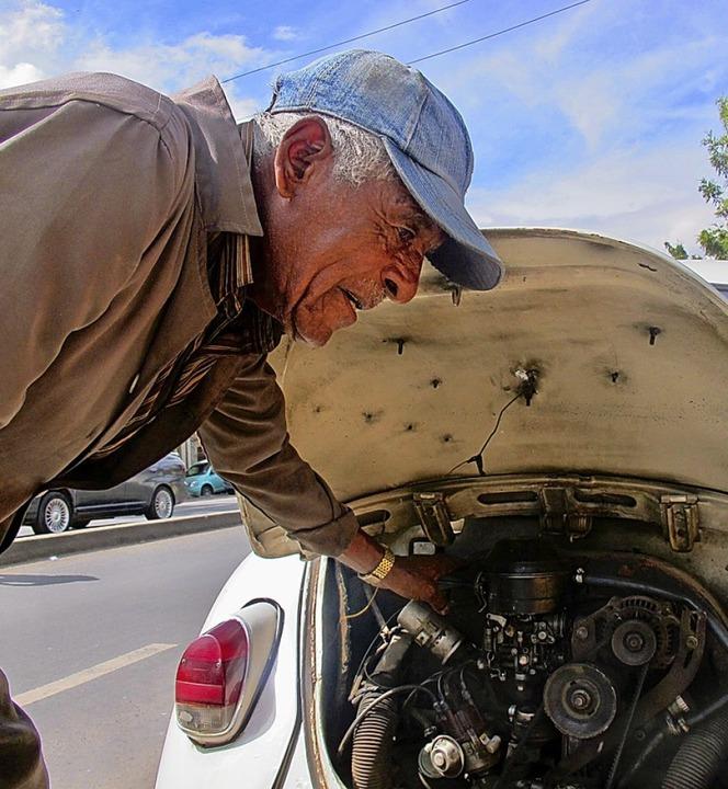 Teshome Senior ist 74 Jahre alt und hat früher bei VW in Addis Abeba gearbeitet.
