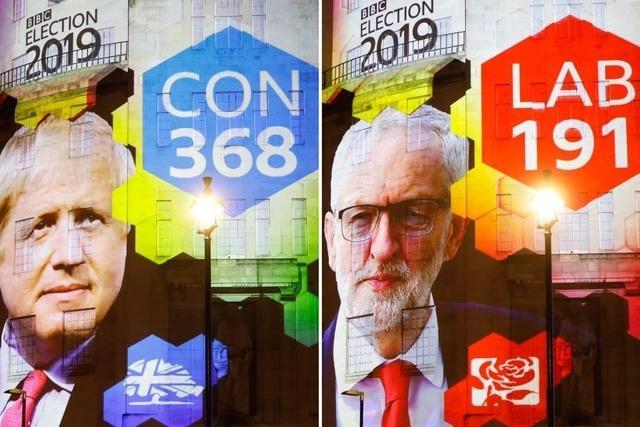 Liveblog: Jubel, Tränen, Rückzug – Reaktionen auf den Wahlausgang in Großbritannien