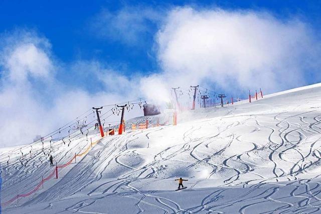 Optimale Schneebedingungen für Skifahrer auf dem Feldberg