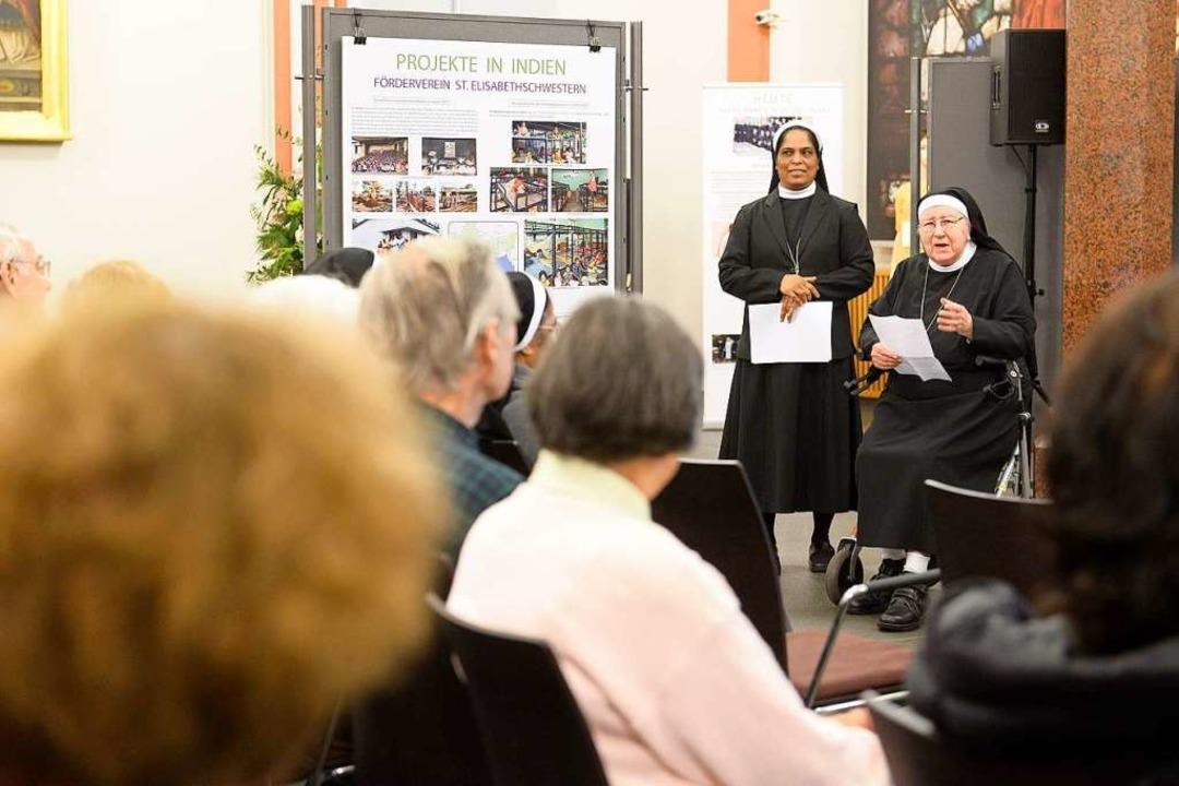 Generaloberin Schwester Lincy Poonoly ... und Schwester Lamberta bei BZ-Hautnah  | Foto: Ingo Schneider