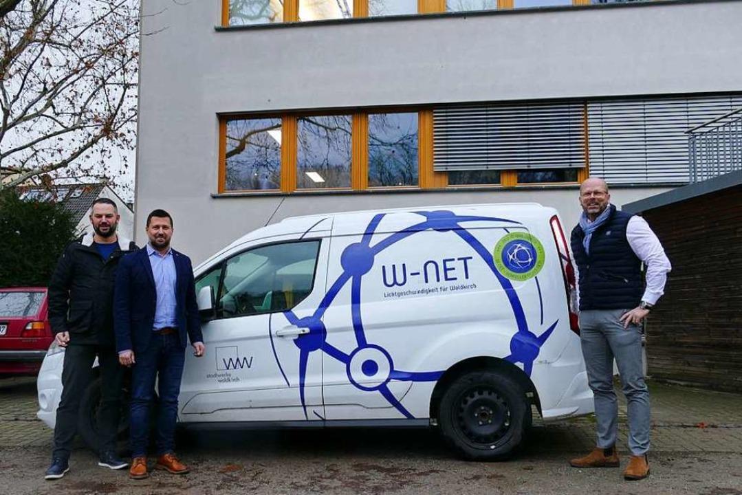 Wenn das W-Net-Auto kommt, naht das sc... die Beratungen in den Ausbaugebieten.    Foto: Sylvia Sredniawa