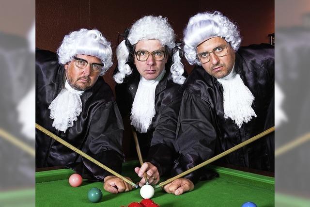 Das Trio Gebirgspoeten gibt Vorstellung im Meck in Frick/Schweiz