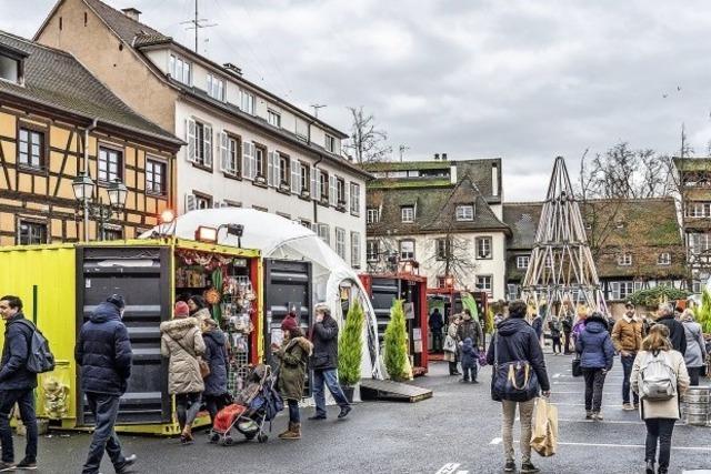 Der Weihnachtsmarkt in Containern