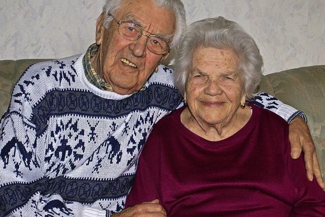 Seit nunmehr sieben Jahrzehnten ein Ehepaar