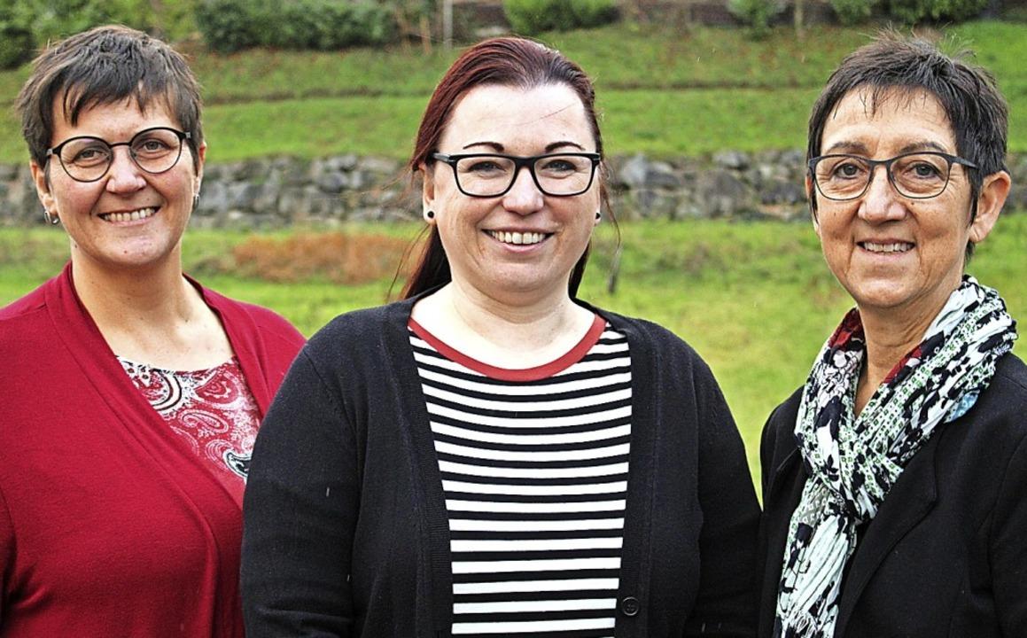Ein tatkräftiges Trio:  Christiane Wan...links) und Kathrin Leininger (rechts)   | Foto: Annika Sindlinger