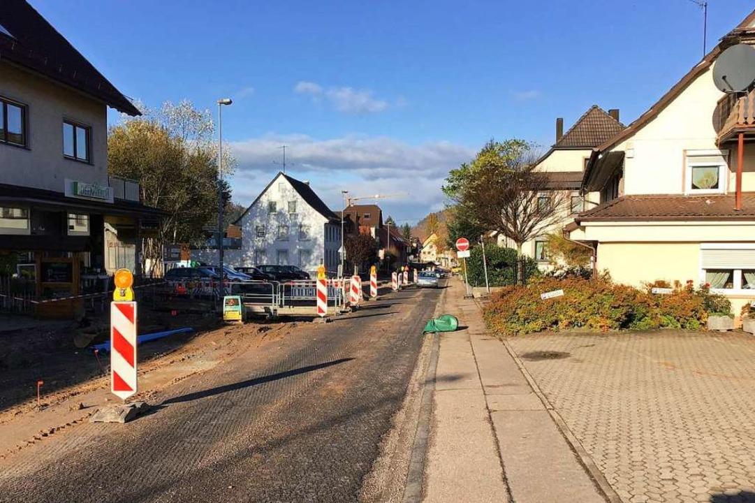 Baustelle statt Lkw: die Ortsdurchfahrt Reichenbach  | Foto: Stadt Lahr