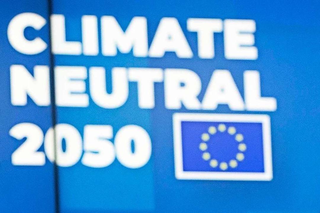 Klimaneutral wirtschaften im Jahr 2050 – das ist das Ziel der EU-Staaten.   | Foto: Virginia Mayo (dpa)