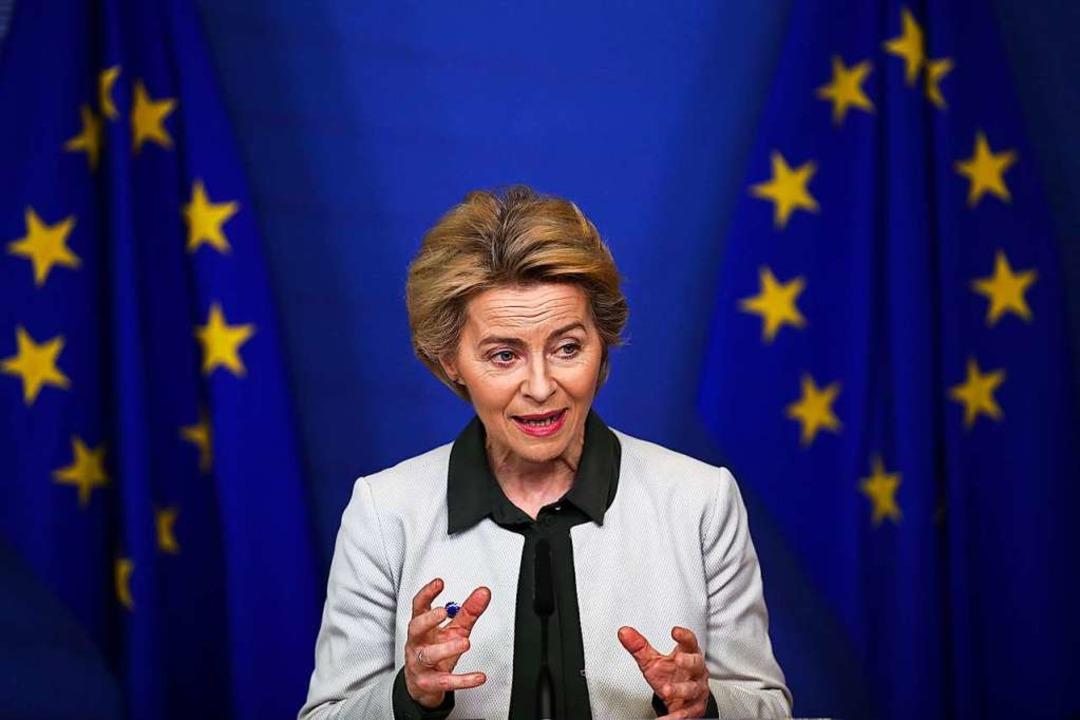 EU-Kommissionspräsidentin Ursula von der Leyen  | Foto: Francisco Seco (dpa)