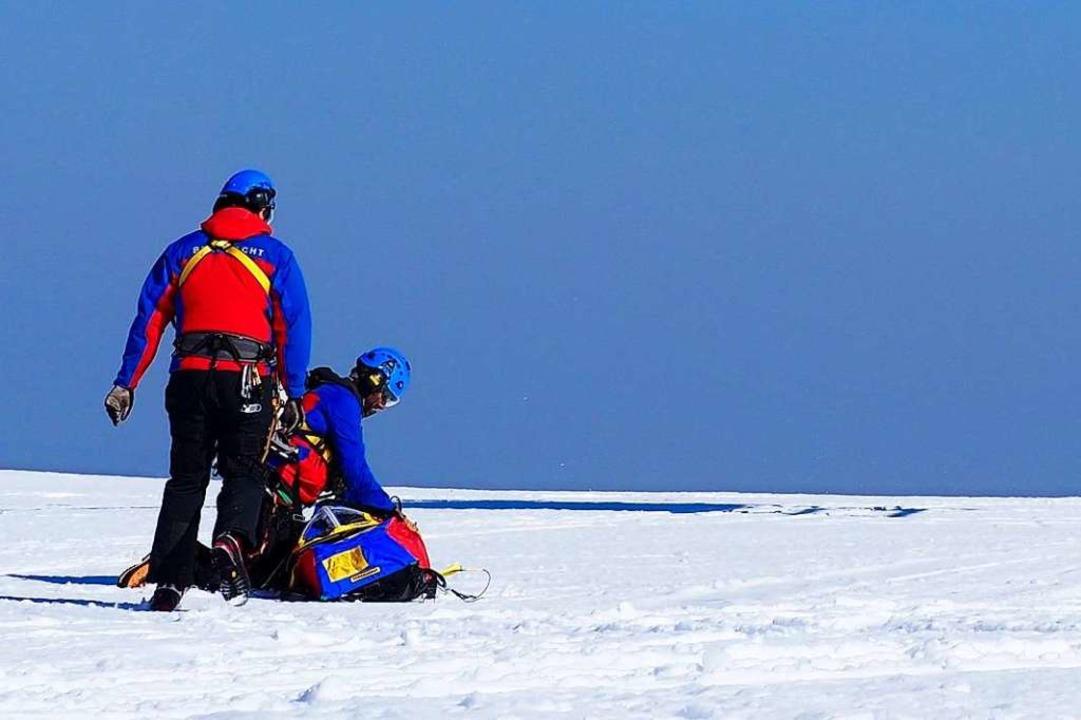 Einsatz für die Retter der Bergwacht (Symbolbild)    Foto: Susanne Gilg