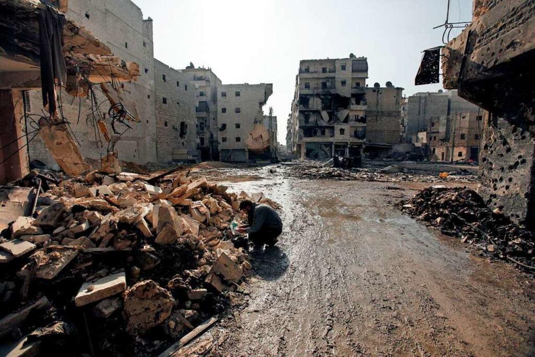 Heimat, in der es sich nicht mehr leben lässt: das zerstörte Aleppo  | Foto: Javier Manzano