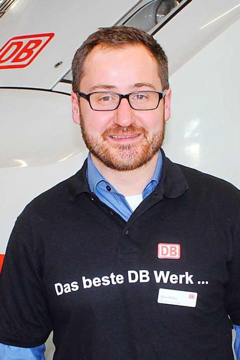 Silvio Müller leitet das ICE-Werk in Basel.  | Foto: Rolf Reißmann