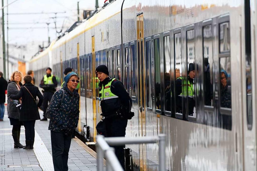 Offizieller Startschuss für Ost-West-A...euen Züge auf der Kaiserstuhlbahn Ost.  | Foto: Martin Wendel