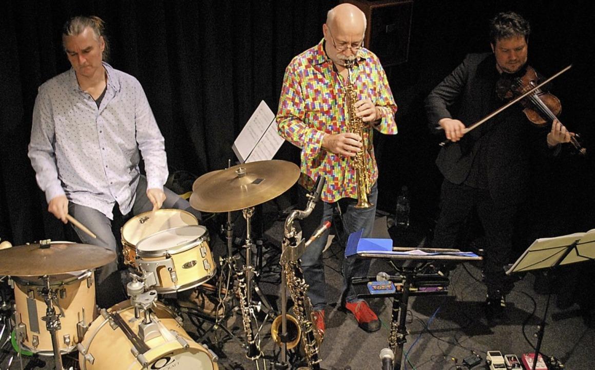 Musiker des Keller Quintetts: Hans Fic... Keller und Florian Vogel im Jazztone.  | Foto: Thomas Loisl Mink