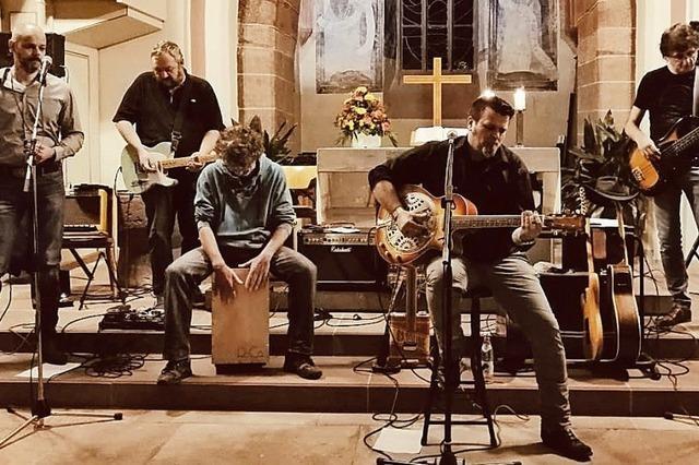 Die Bluesband Jake Walk spielt ein Adventskonzert in Oberried