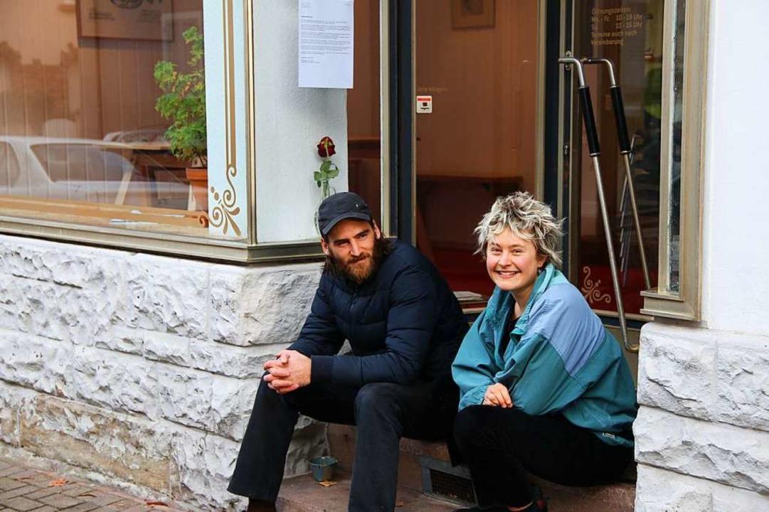 Max Siebenhaar und Lou von der Heyde aus dem Delphi-Team  | Foto: Gina Kutkat