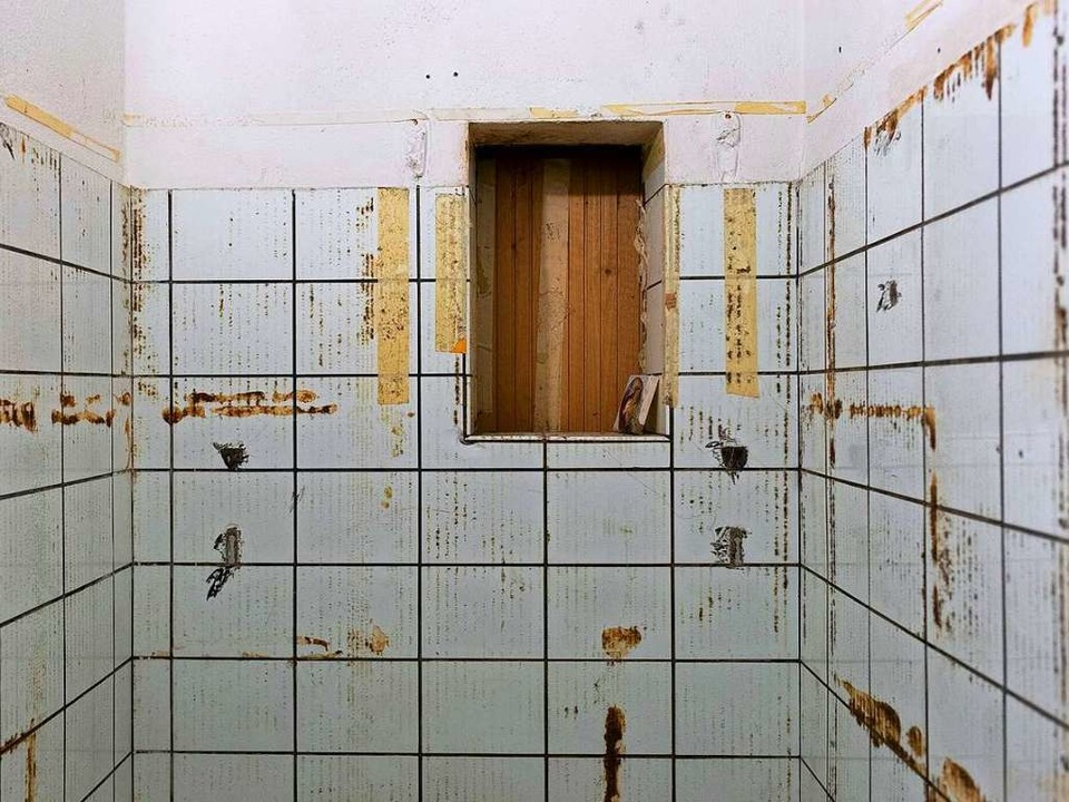 Die ehemalige Kühlkammer soll Kulisse für Installationen werden  | Foto: Valentin Fischer