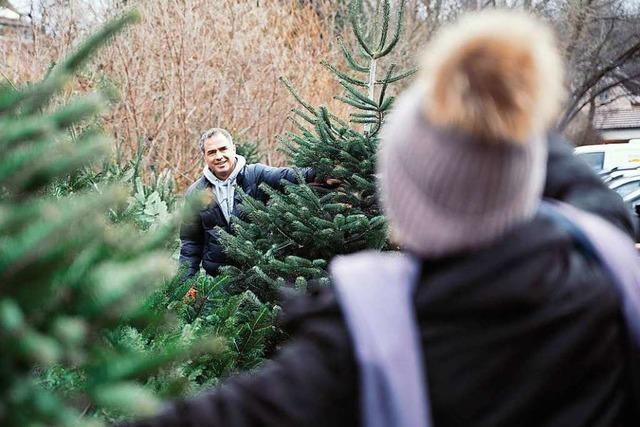 Fotos: Weihnachtsbaum-Event für BZ-Werbekunden in Zarten