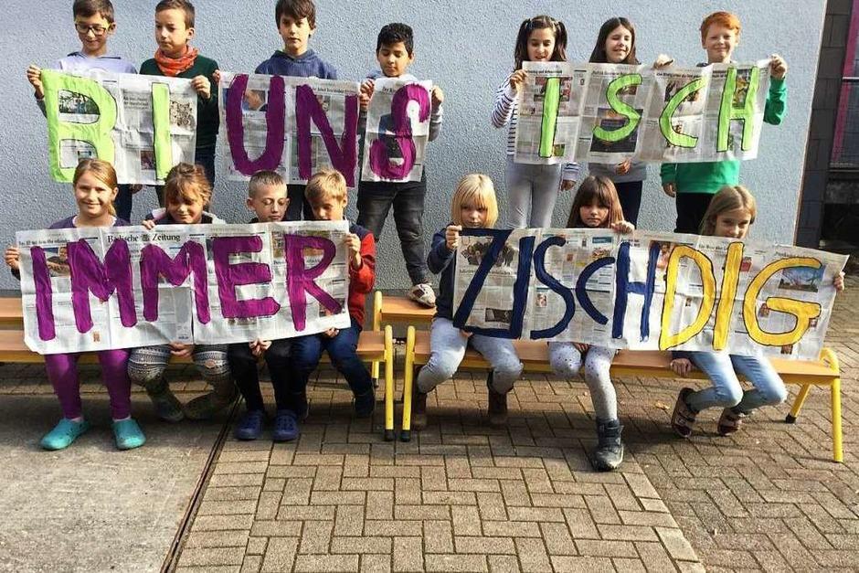Platz 1 im Bereich Freiburg, Breisgau, Markgräflerland: Klasse 4a, Sommerbergschule, Buchenbach (Foto: privat)