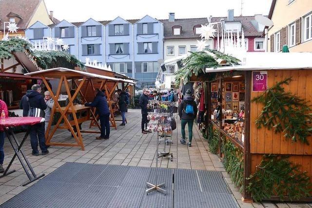 Bei Regen läuft das Geschäft auf dem Weihnachtsmarkt nur mäßig