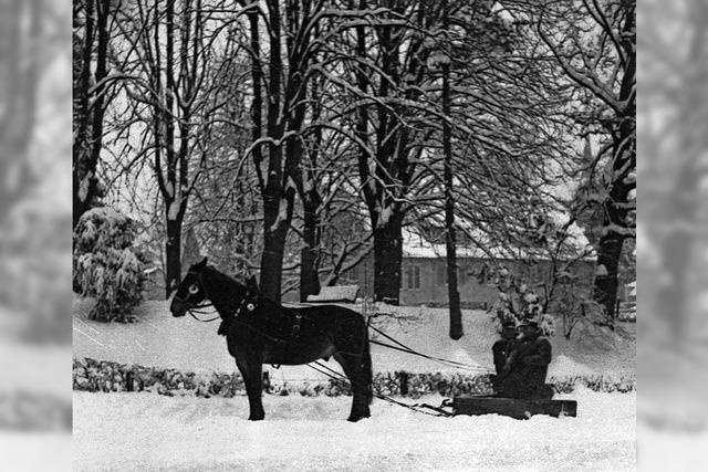 Winter, wie er früher mal war: Historische Fotografien im Markgräfler Museum